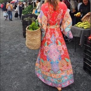 Bohemian Lotus Gypsy Kimono Maxi Dress